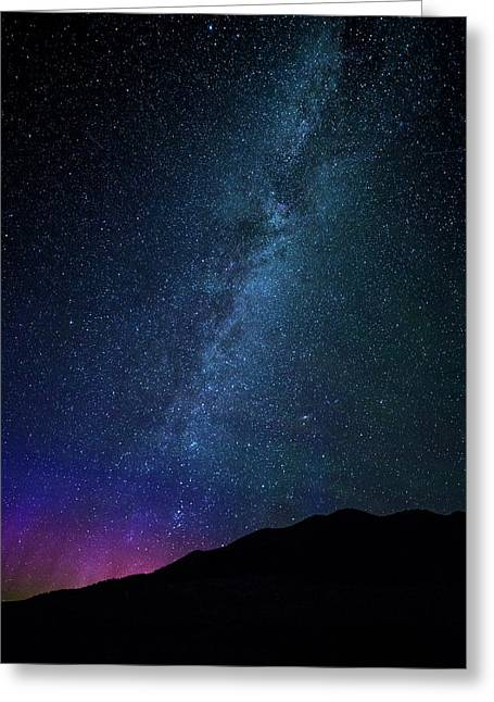 Milky Way Galaxy After Sunset Greeting Card by Dan Pearce