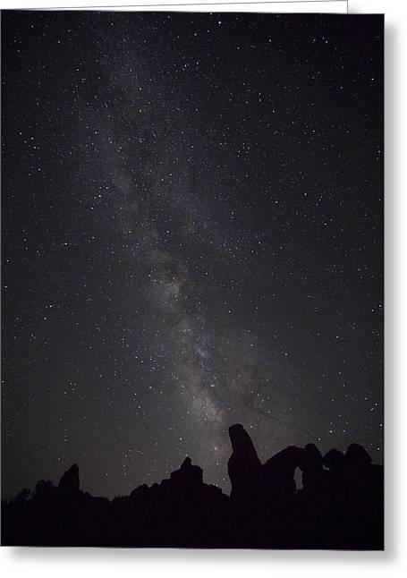 Milky Way Galaxy At Arches National Park Greeting Card