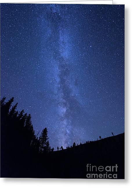 Milky Way Galaxy Greeting Card by Juli Scalzi