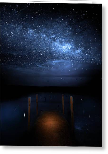 Milky Way Galaxy Greeting Card by Mark Andrew Thomas