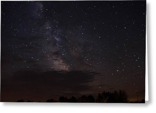 Milky Way Greeting Card by Gary Wightman