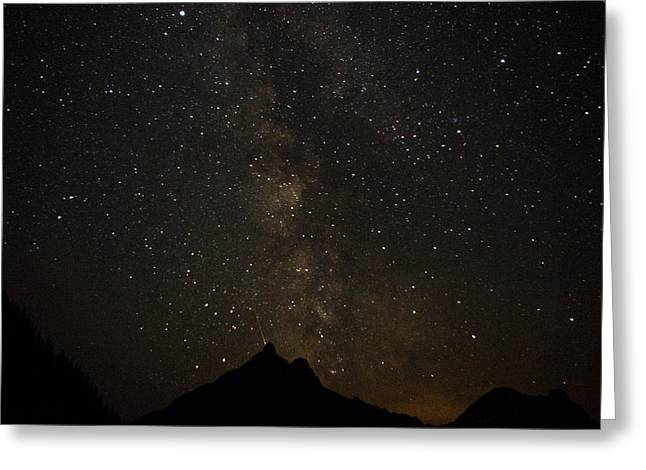 Milky Way, Glacier Nat'l Park Greeting Card