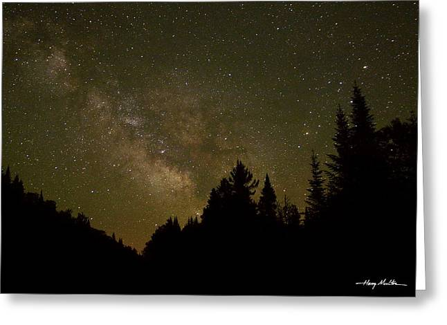 Milky Way In The Whites Greeting Card