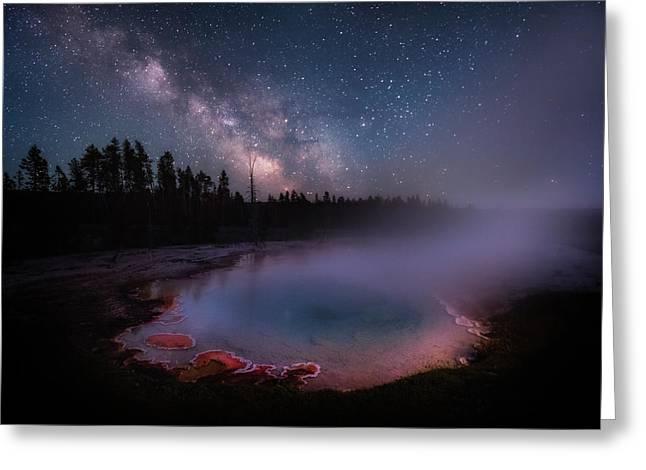 Milky Way In Yellowstone Greeting Card