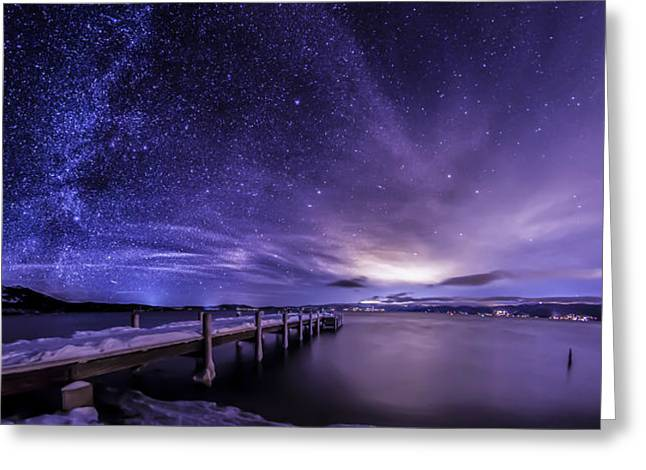 Milky Way Mountains Greeting Card