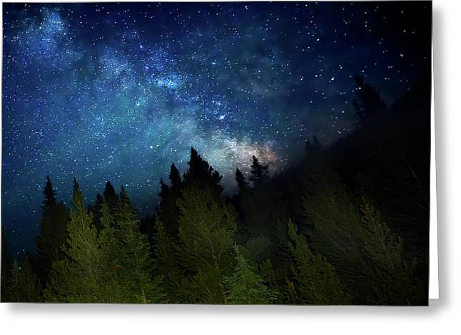 Milky Way On The Mountain Greeting Card