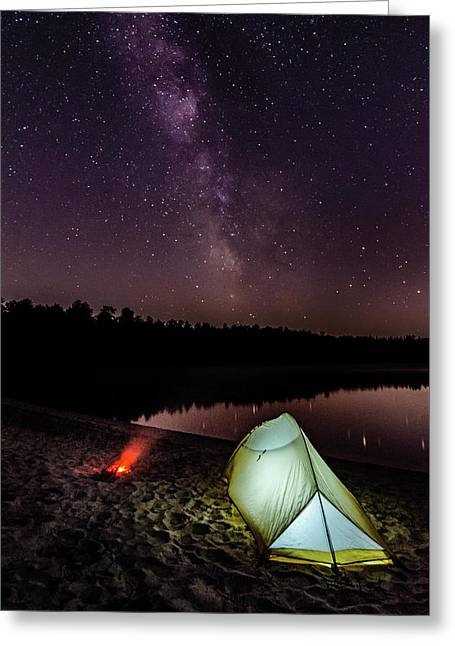 Milky Way Over Abner Pond Greeting Card