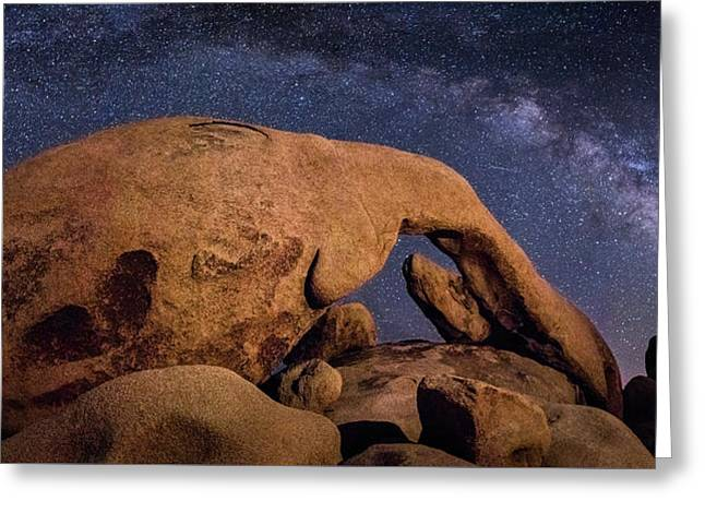 Milky Way Over Arch Rock Greeting Card
