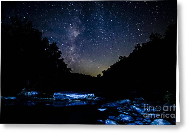 Milky Way Over Baptizing Hole Greeting Card by Thomas R Fletcher