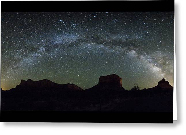 Milky Way Over Bell Greeting Card