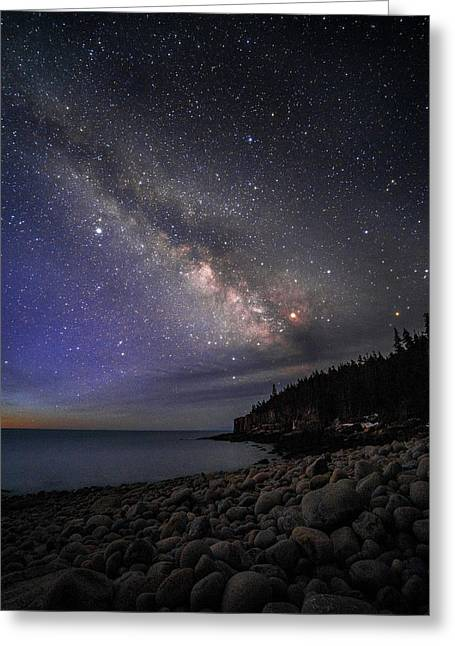 Milky Way Over Boulder Beach Greeting Card