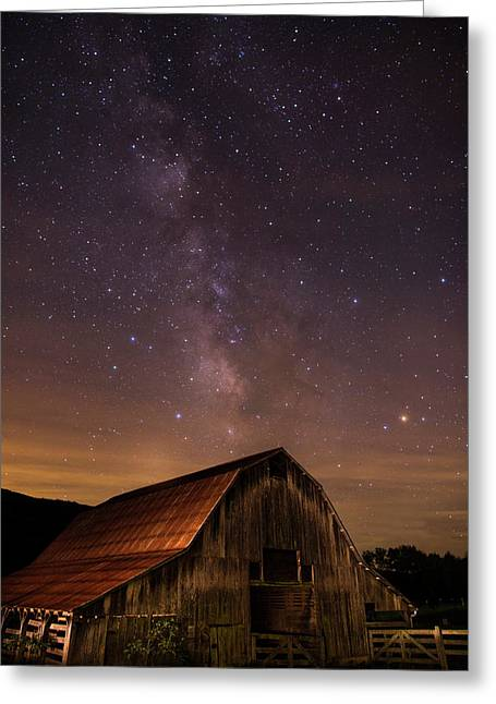 Milky Way Over Boxley Barn Greeting Card