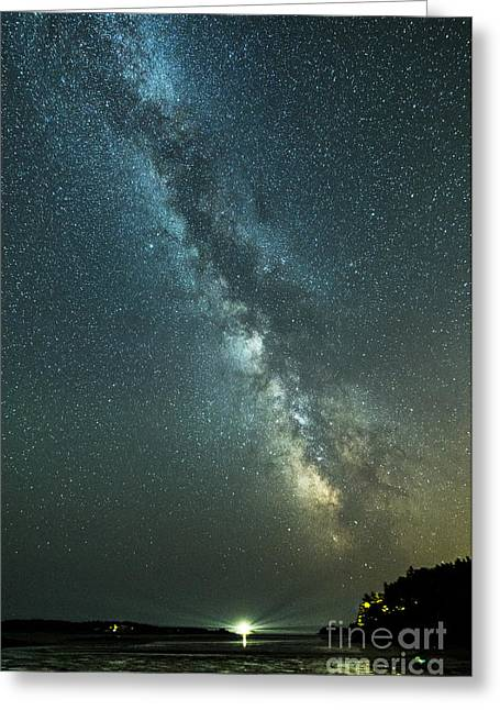 Milky Way Over Clams Flats Greeting Card