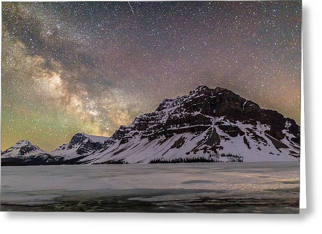 Milky Way Over Crowfoot Mountain Greeting Card