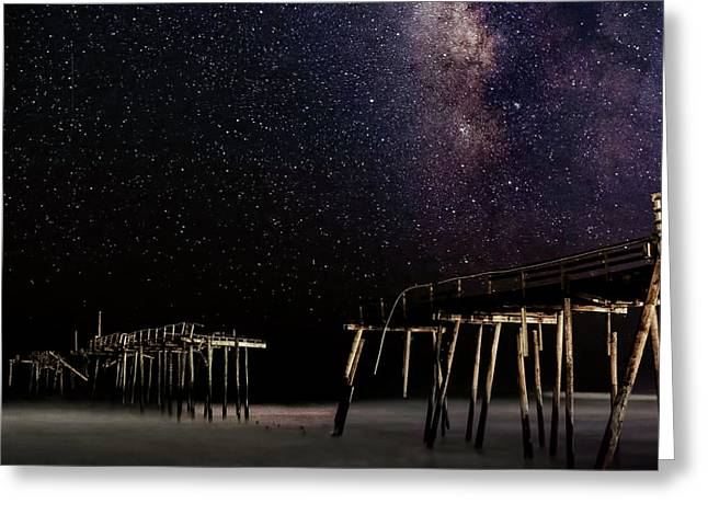 Milky Way Over Frisco Greeting Card