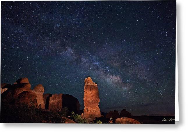 Milky Way Over Garden Of Eden Greeting Card
