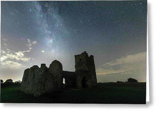 Milky Way Over Knowlton Church Greeting Card