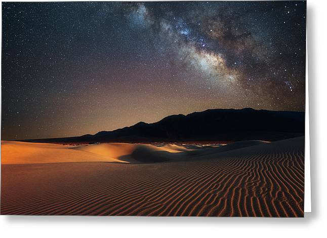 Milky Way Over Mesquite Dunes Greeting Card by Darren White
