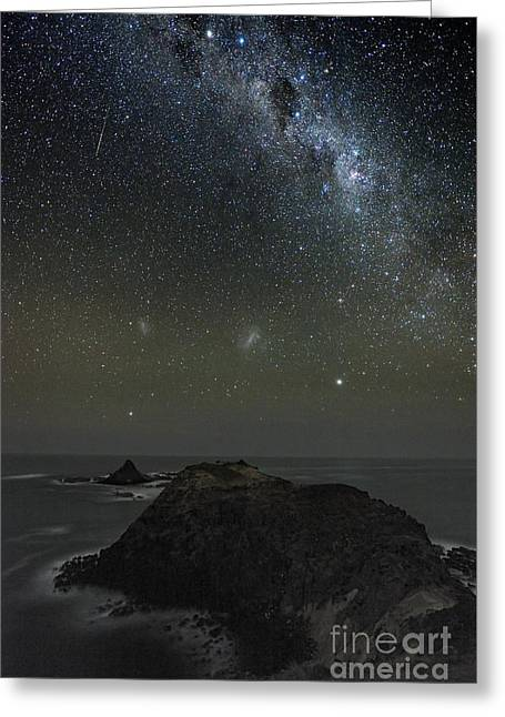 Milky Way Over Phillip Island In Australia Greeting Card by Alex Cherney Terrastro