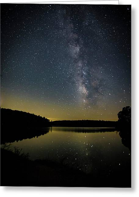 Milky Way Over Price Lake Greeting Card