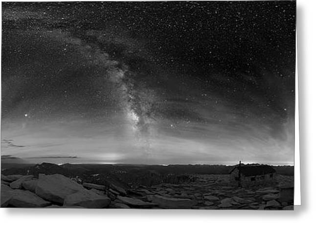 Milky Way Over Sequoia National Park Greeting Card by NPS skeeze