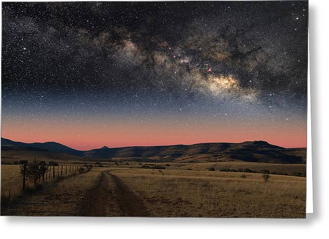 Milky Way Over Texas Greeting Card by Larry Landolfi