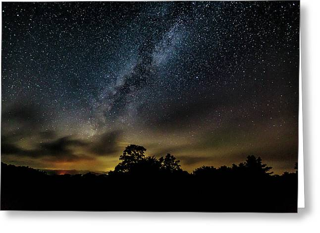 Milky Way Over The Blue Ridge Greeting Card