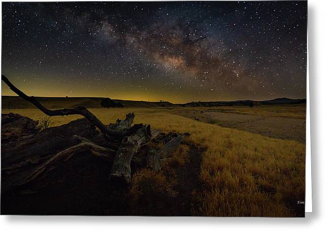 Greeting Card featuring the photograph Milky Way Over The Canyon  Ranch by Tim Bryan
