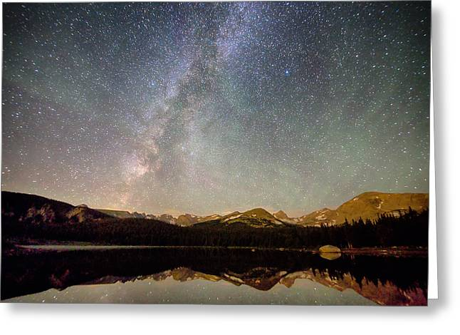 Milky Way Over The Colorado Indian Peaks Greeting Card