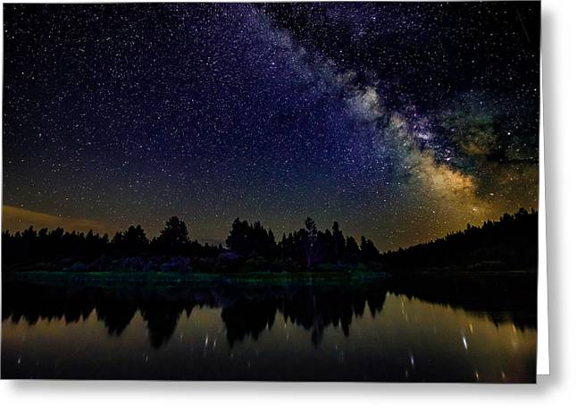 Milky Way Over The Deschutes River - 2 Greeting Card