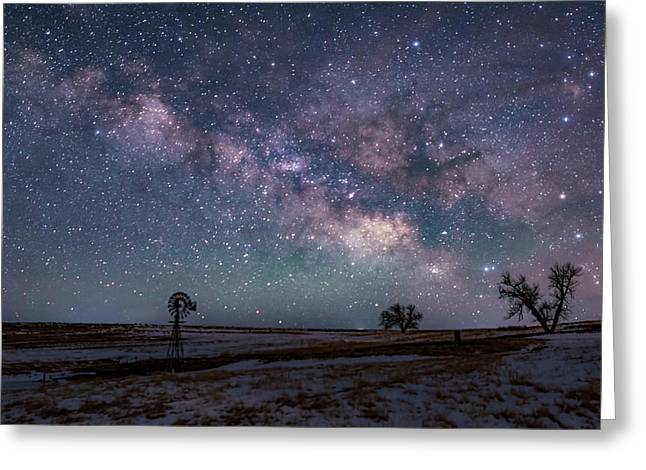 Milky Way Over The Prairie Greeting Card
