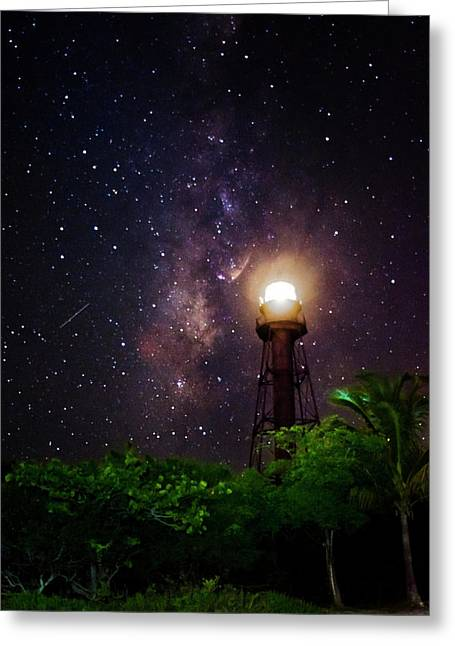 Milky Way Over The Sanibel Lighthouse Greeting Card