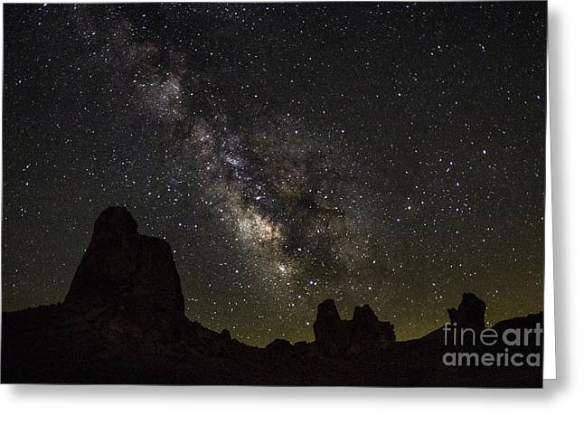 Milky Way Over Trona Pinnacles Greeting Card