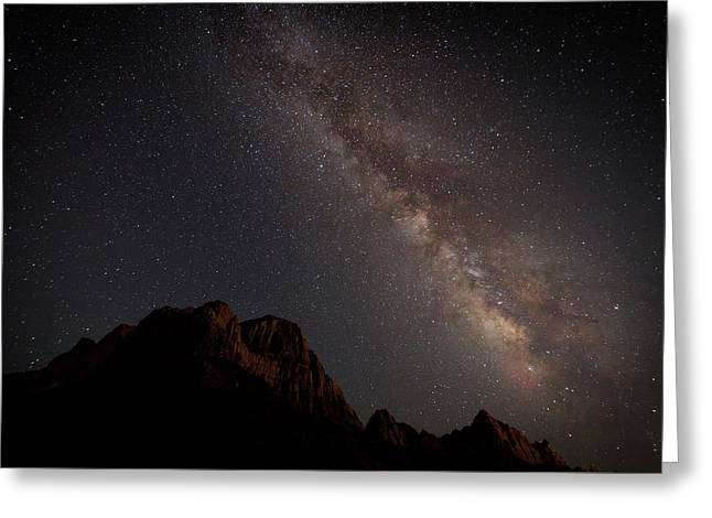 Milky Way Over Zion Greeting Card