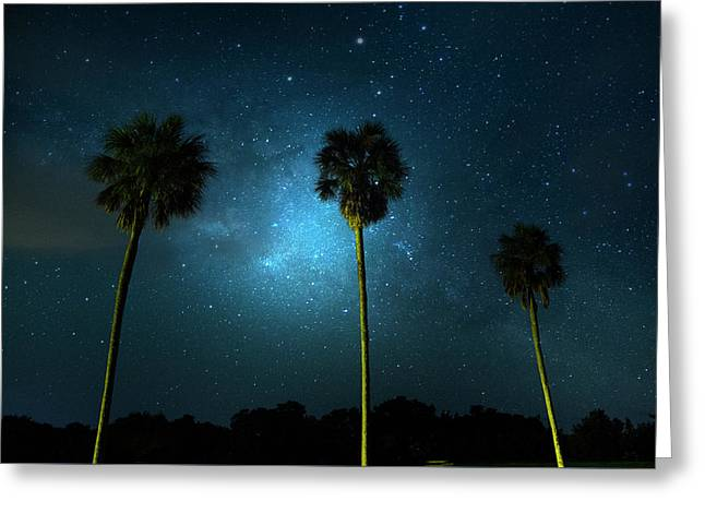 Milky Way Planet Greeting Card