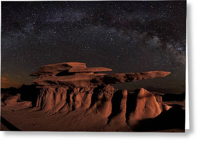 Milky Way Rainbow In The Bisti Badlands Greeting Card by Mike Berenson