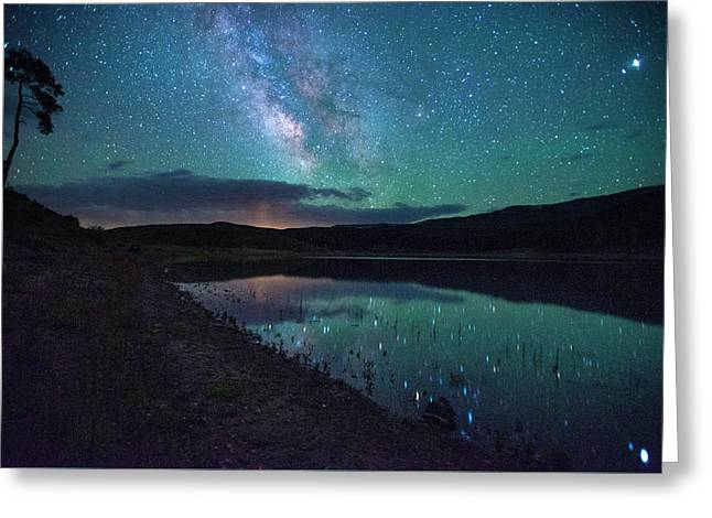 Milky Way Reflections Greeting Card