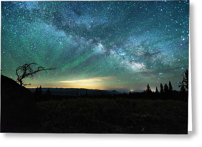 Milky Way Rising Greeting Card