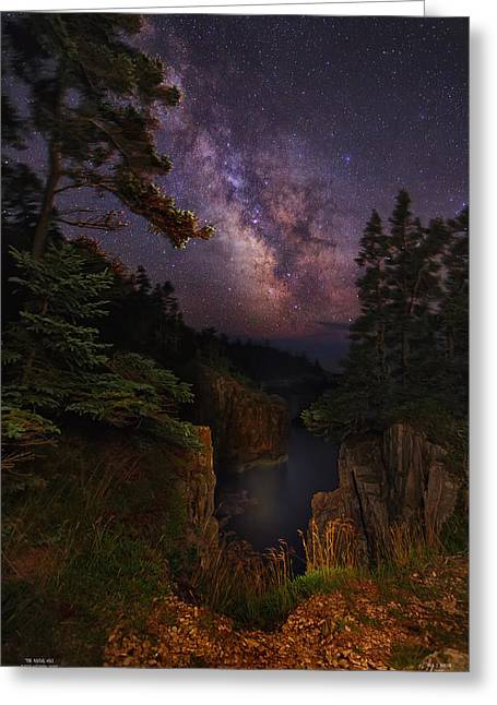 Milky Way Rising Over The Raven's Roost Greeting Card