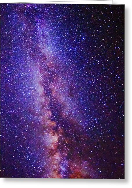 Milky Way Splendor Vertical Take Greeting Card by Vishwanath Bhat