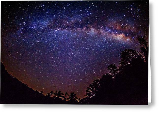 Milky Way Splendor Greeting Card by Vishwanath Bhat