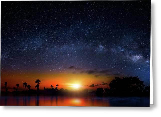 Milky Way Sunrise Greeting Card