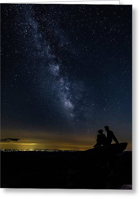 Milky Way Viewed From Rough Ridge Greeting Card