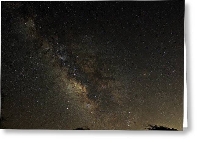Milky Way Greeting Card by William Carter