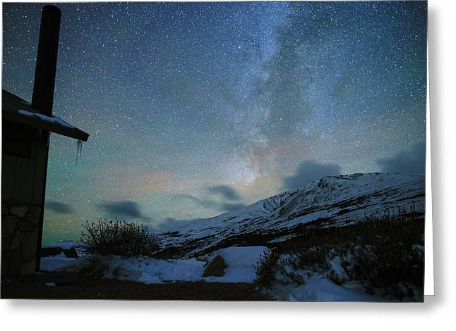 Milky Way With Airglow, Over Guanella Pass Greeting Card by Daniel Lowe