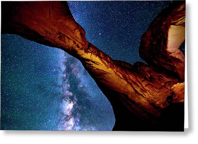 Milkyway At Arches Greeting Card