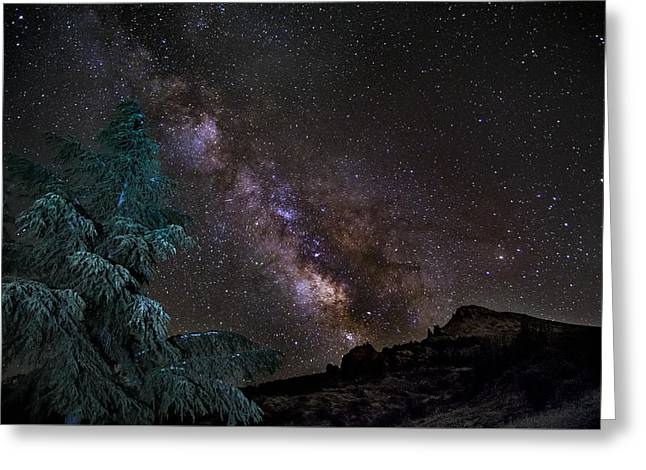 Milkyway At The Mountains Greeting Card by Guido Montanes Castillo