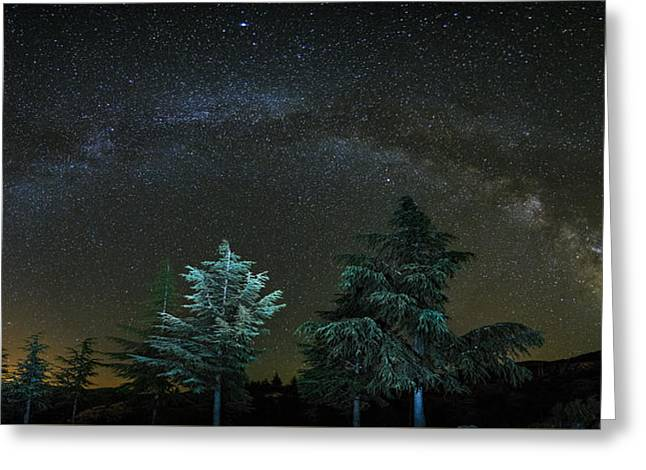 Milkyway At The Mountains II Greeting Card by Guido Montanes Castillo