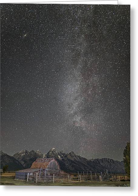 Milkyway Over The John Moulton Barn Greeting Card