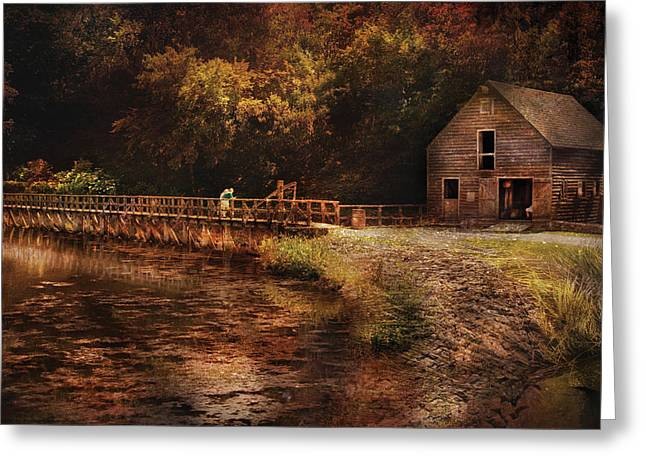 Mill - The Village Edge Greeting Card by Mike Savad